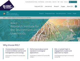 riel.cdu.edu.au screenshot