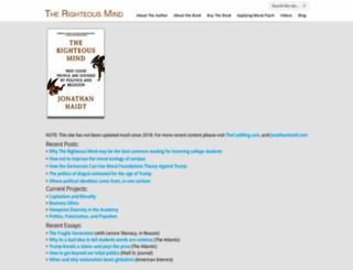 righteousmind.com screenshot