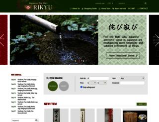 rikyucha.com screenshot