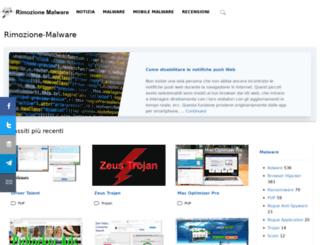 rimozione-malware.com screenshot