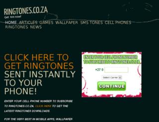 ringtones.co.za screenshot