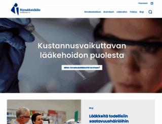 rinnakkaislaaketeollisuus.fi screenshot