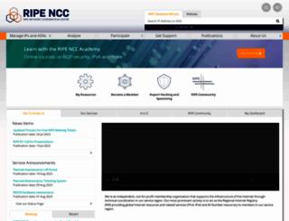ripe.net screenshot