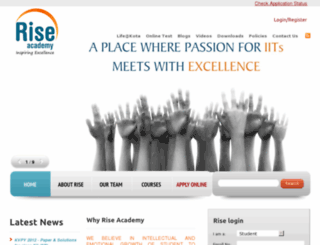 rise.ac.in screenshot