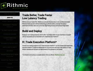 rithmic.com screenshot