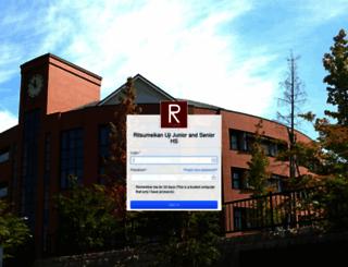 ritsuji.managebac.com screenshot