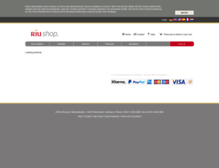riu-shop.de screenshot