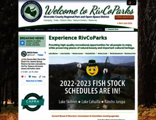rivcoparks.org screenshot