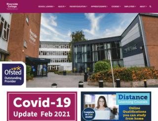 riversidecollege.ac.uk screenshot