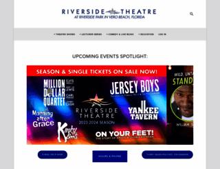 riversidetheatre.com screenshot