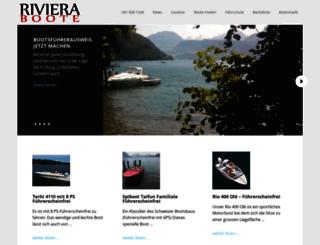 riviera-boote.ch screenshot
