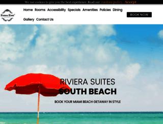 rivierahotelsouthbeach.com screenshot