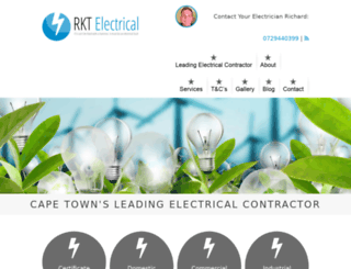 rktelectrical.com screenshot