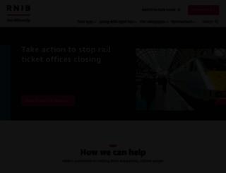 rnib.org.uk screenshot