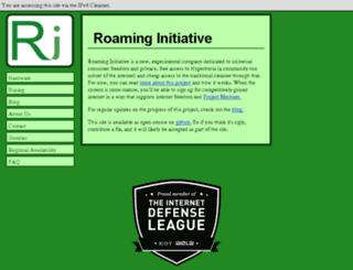 roaming-initiative.com screenshot
