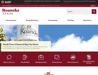 roanoketexas.com screenshot