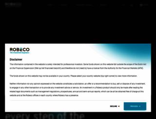 robeco.com screenshot
