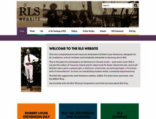 robert-louis-stevenson.org screenshot