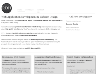 robertdhamilton.com screenshot