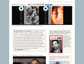 robertlanzabiocentrism.com screenshot