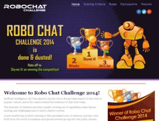 robochatchallenge.com screenshot