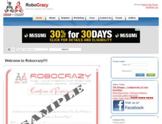 robocrazy.org screenshot