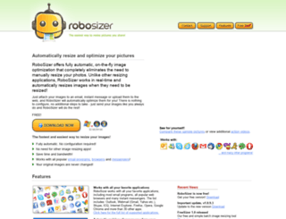 robosizer.com screenshot