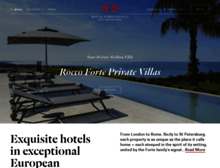 roccofortehotels.com screenshot