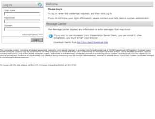 rocitrix.wustl.edu screenshot