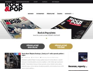 rockandpop.cz screenshot