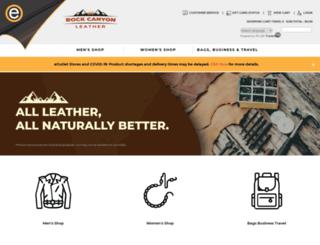 rockcanyonleather.com screenshot