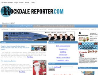 rockdalereporter.our-hometown.com screenshot