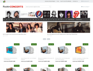 rockinconcerts.com screenshot