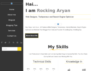 rockingaryan.com screenshot