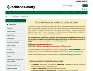 rocklandcountyclerk.com screenshot