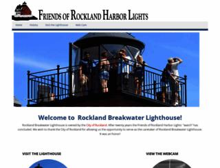 rocklandlighthouse.com screenshot