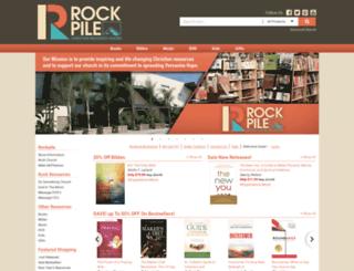 rockpilebookstore.com screenshot