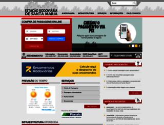 rodoviariasantamaria.com.br screenshot
