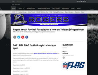 rogersyouthfootball.com screenshot