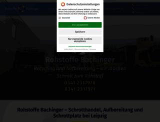 rohstoffebachinger.de screenshot