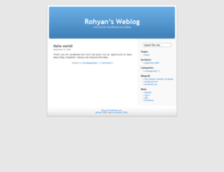 rohyan.wordpress.com screenshot