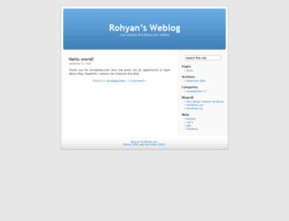 rohyan.wordpress.com screenshot
