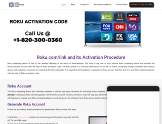 rokuactivationcode.com screenshot