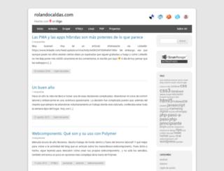 rolandocaldas.com screenshot