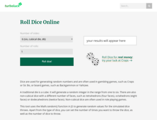 roll-dice-online.com screenshot