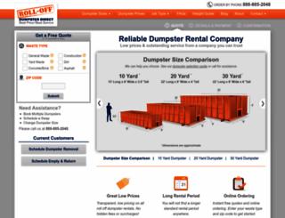 rolloffdumpsterdirect.com screenshot
