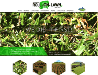 rollonlawn.co.za screenshot