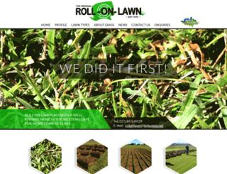 rollonlawn.co.za screenshot