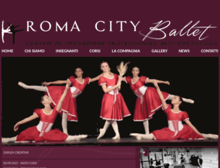 romacityballet.it screenshot