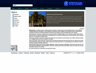 romackcrane.com screenshot